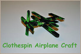 clothespin airplane craft u2013 crafts 4 boys