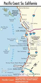 california map laguna pacific coast route through laguna california road trip usa