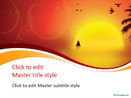 Free Sunset Ppt Template Ppt Powerpoint