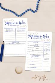 wedding register book wedding mad lib guest book alternative custom design co