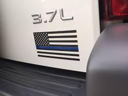 Blue And Black Flag Thin Blue Line Flag Vinyl Decal American Flag Black White