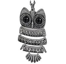 owl necklace silver images Hinged owl pendant necklace in silver jpg
