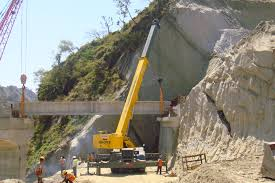afcons relies on grove rough terrain cranes at road build in india