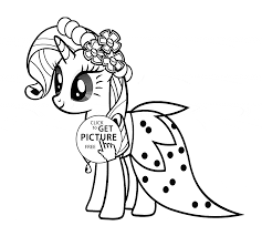 stylish rarity my little pony coloring page for kids for girls