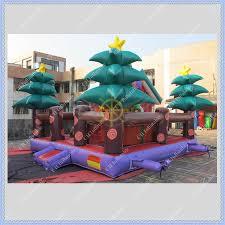2015 new design inflatable christmas house bouncer santa jumping