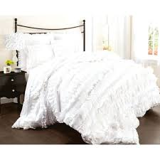Purple Ruffle Comforter Bedding Bedroom With Floral Shabby Chic Bedding Simply Piece Duvet