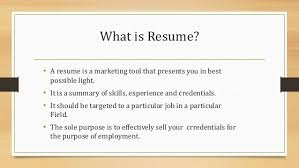 What Is The Purpose Of A Resume What Is Resume Resume Templates
