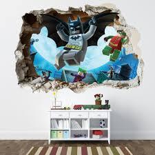 11 lego batman wall decals lego batman smashed wall sticker lego batman smashed wall sticker bedroom boys girls vinyl wall art