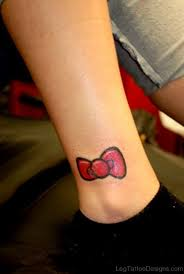 54 cool bow tattoos on ankle