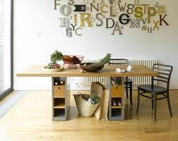 classy wooden table with well made storage design popular home