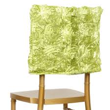 Green Chair Covers 6 Pcs Chair Covers Square Top Caps With Ribbon Roses Party Wedding