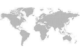 grey dotted world map wall mural murals wallpaper