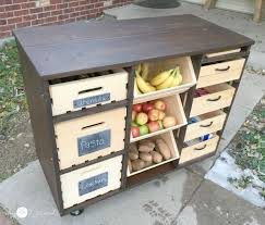 your own kitchen island build your own mobile kitchen island with wooden crate storage