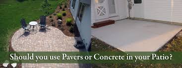 Concrete Patio Pavers Concrete Patio Cost Vs Pavers Home Outdoor Decoration