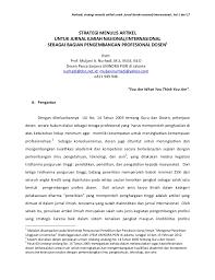format artikel yang benar strategi menulis artikel untuk jurnal ilmiah nasional