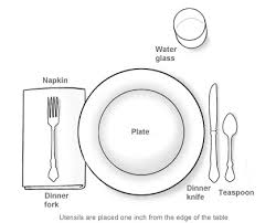 the etiquette table setting for a casual gathering great setting