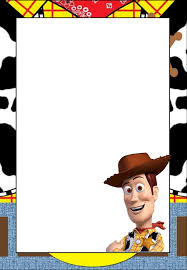 toy story free printable frames invitations cards