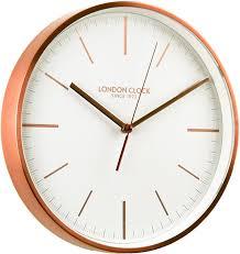 karlsson clock maxi design white and copper amazon co uk
