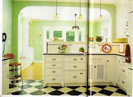 Green And Yellow Kitchen Decor Interior Dazzling Vintage Decorating Ideas Delightful Retro