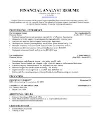 Sample Skills And Abilities For Resume Financial Analyst Resume Samples Resume For Your Job Application