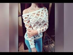 sueter tejido a dos agujas youtube cómo tejer suéter calado a crochet tutorial crochet y dos agujas