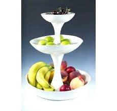 3 tier fruit basket tiered fruit bowl 3 tier fruit basket 3 tiered white pottery tiered