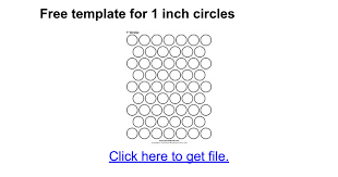 1 Inch Circle Template by Free Template For 1 Inch Circles Docs