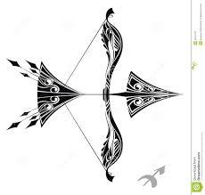 zodiac sign sagittarius design stock vector illustration