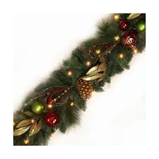 luxury pre lit garland lights plants plus