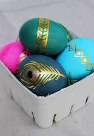 metallic easter eggs easter eggs can