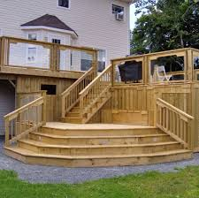 Backyard Decks And Patios Ideas by Outdoor U0026 Garden Magnificent Raised Wooden Deck Design Ideas