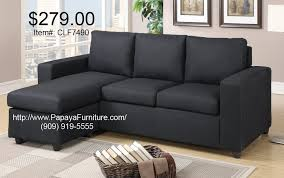 Black Fabric Sectional Sofas Small Black Fabric Sectional Sofa Set Modern Furniture Cl