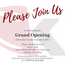 New Office Opening Invitation Card Kavaliro Staffing Firm Invites You To Join Us For An Open House