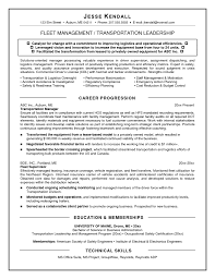 Transportation Manager Resume Fleet Manager Resume Free Resume Example And Writing Download