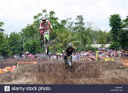 race motocross jump during a motocross race stock photos u0026 jump during a