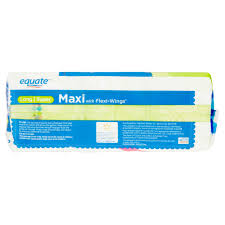 Pillow Top Mattress Pad Walmart Equate Long Super Maxi With Flexi Wings Pads 45 Count Walmart Com