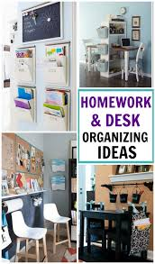 Organization Desk Homework And Desk Organization Ideas Design Dazzle