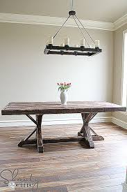 Building Plans For Small Picnic Table by 12 Free Dining Room Table Plans For Your Home