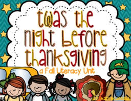 twas the before thanksgiving a fall literacy unit tpt