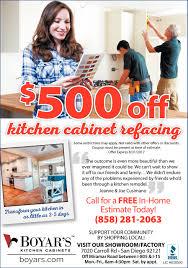 500 off boyar u0027s kitchen cabinets san diego ca