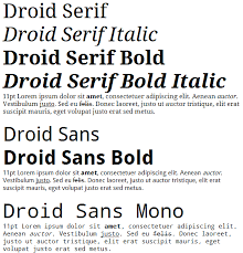 wordpad for android droid font family courtesy of ascender damieng