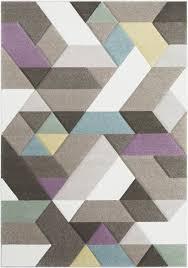 Modern Geometric Rugs Wrought Studio Mott Modern Geometric Carved Brown