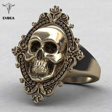 antique skull rings images Evbea charming ancient gold skull ring big huge ghost skull ring jpg