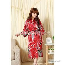 robe de chambre en satin wanglele kimono robe de chambre satin robe dentelle robe en soie