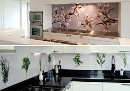 Glass Design For Kitchen Modern Glass Kitchen Splash Back Wall Designs Offer Protection In