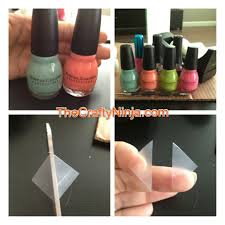 color blocking nail art the crafty ninja