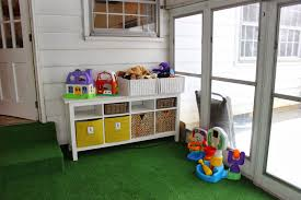 Playroom Storage Furniture by Organizing For Six Our Playroom In The Sunroom