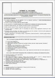 Resume Format Sales And Marketing Mba Marketing Resume Sample Resum Fine Arts Hospice Cover Letter
