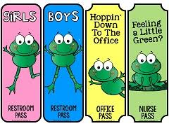 Bathroom Pass Template Classroom Theme Resources From Teacher U0027s Clubhouse