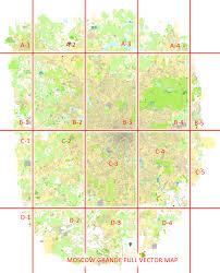 Moscow Map Moscow Grande Vector Street Map Russia Printable And Full